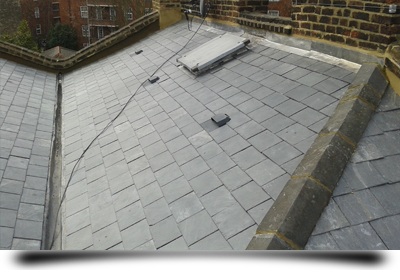 Slate roof repair and replacement by T. J. Copping Ltd Roofing
