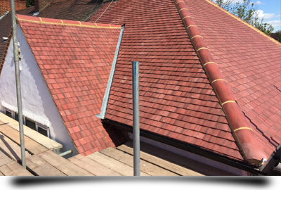Roof tile repair and replacement by T. J. Copping Ltd Roofing